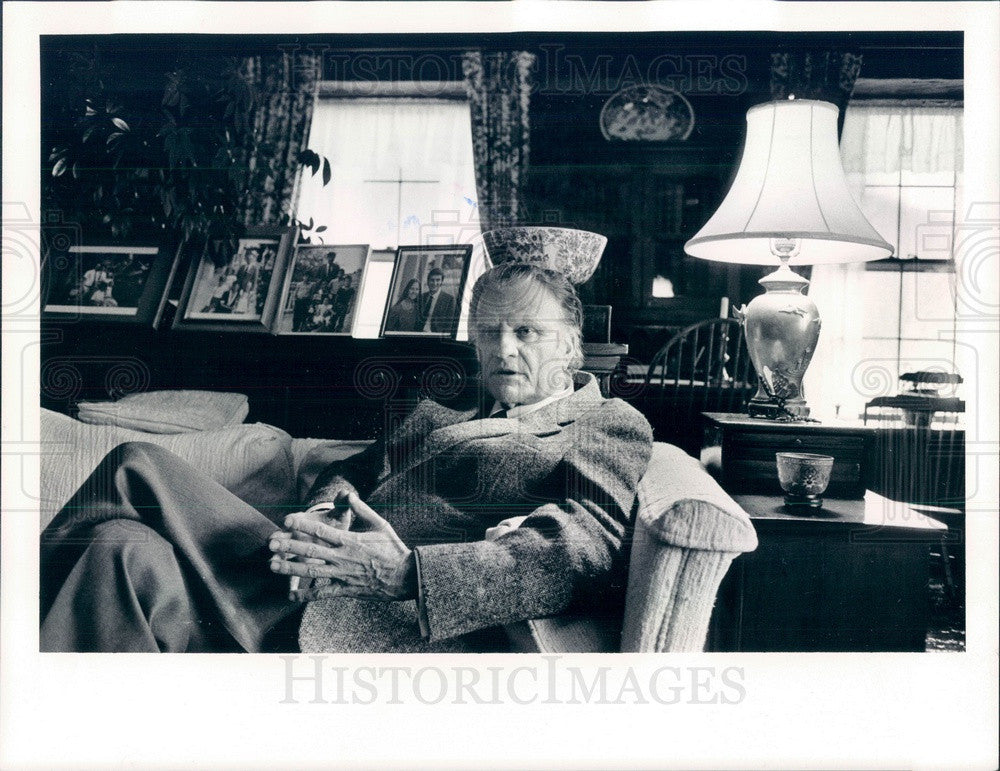1987 Evangelist Rev. Dr. Billy Graham Press Photo - Historic Images
