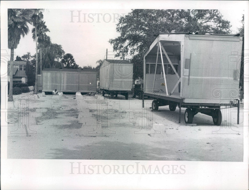 1967 Pinellas County, FL Portable Classrooms, Glen Oaks Elem School Press Photo - Historic Images