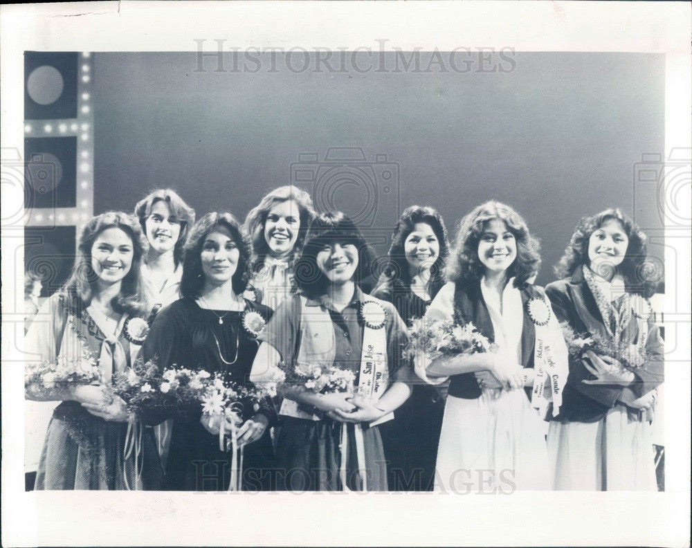 1979 Miss Teenage America Semifinalists Press Photo - Historic Images