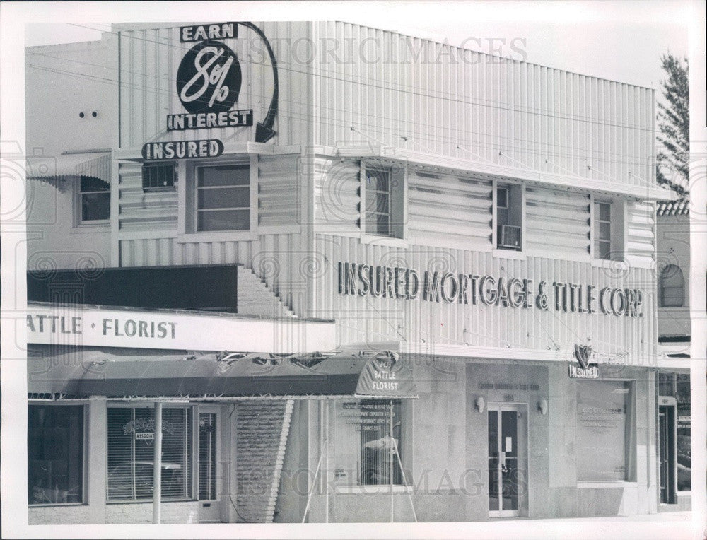 1961 St Petersburg, Florida Insured Mortgage & Title Corp Press Photo - Historic Images