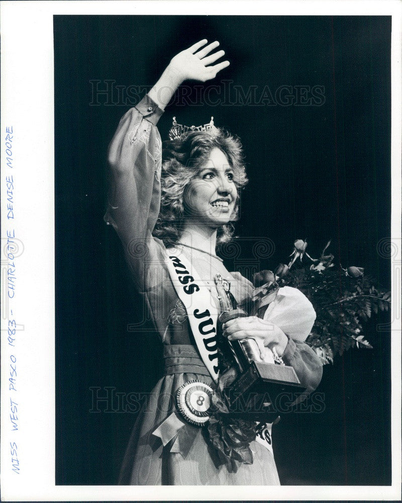 1983 Florida, Miss West Pasco Charlotte Denise Moore Press Photo - Historic Images