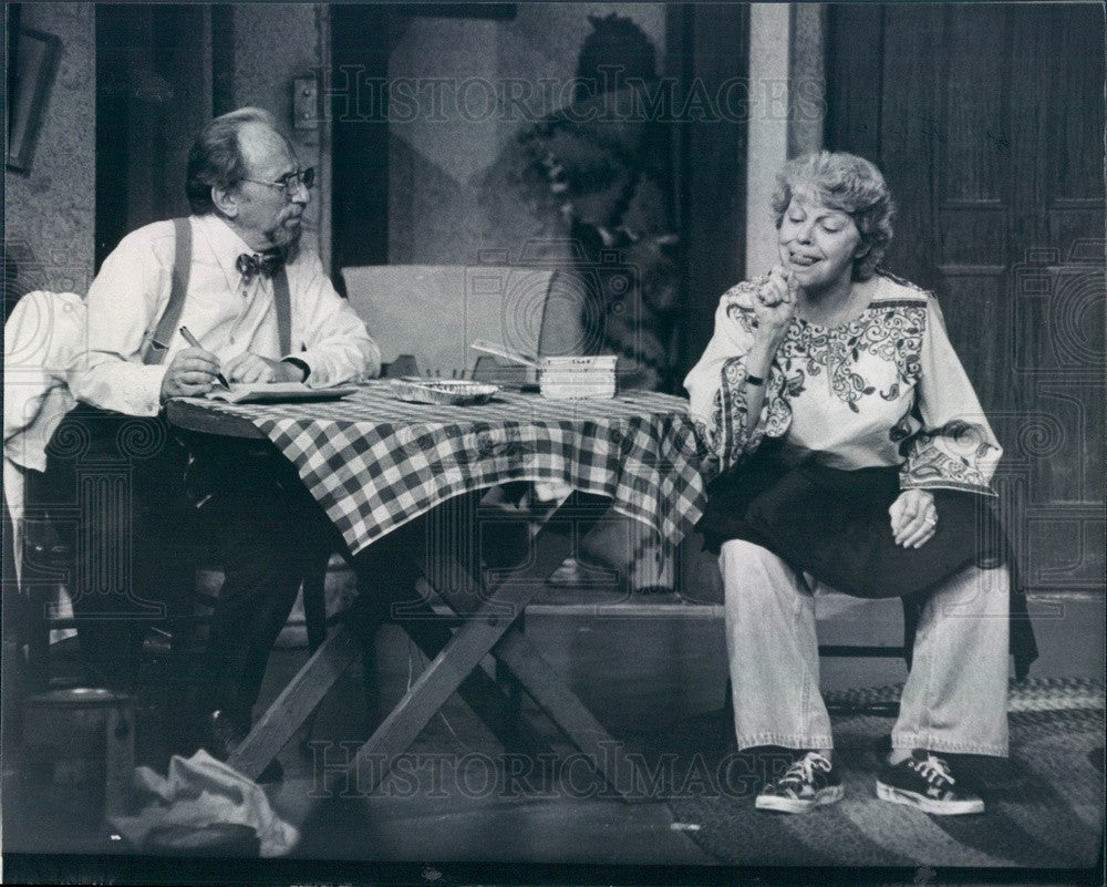1979 Actors Martha Raye & J Robert Dietz in Everybody Loves Opal Press Photo - Historic Images