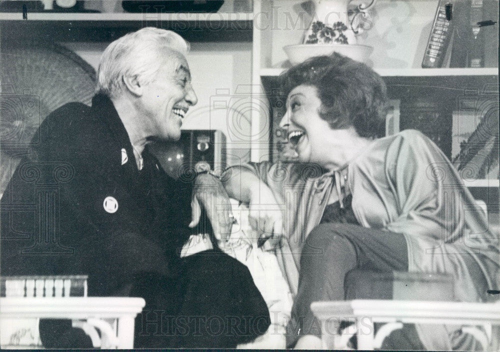 1982 Actors Cesar Romero & Marie Lillo in The Max Factor Press Photo - Historic Images