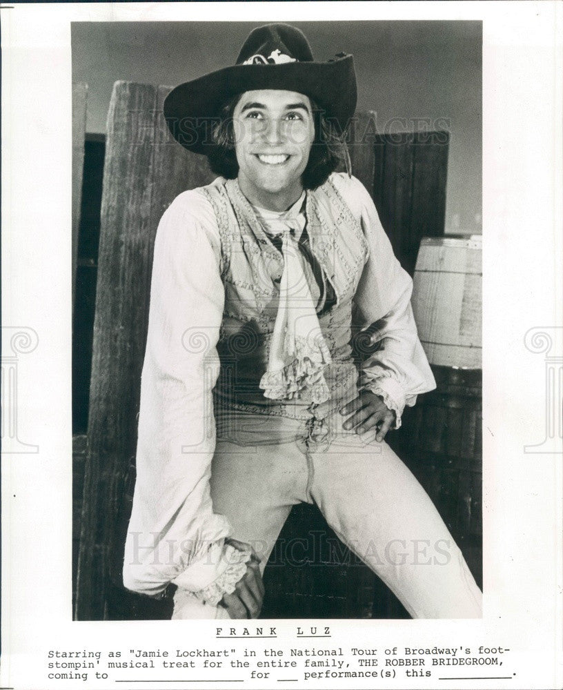 1977 Actor Frank Luz in The Robber Bridegroom Press Photo - Historic Images