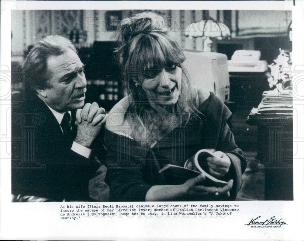 1985 Italian Film Actors Piera Degli Esposti & Ugo Tognazzi Press Photo - Historic Images