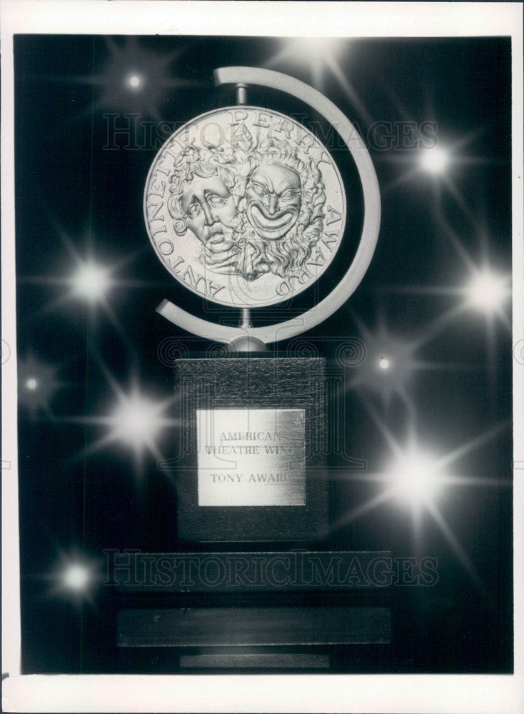 1983 Tony Award Statuette Press Photo - Historic Images