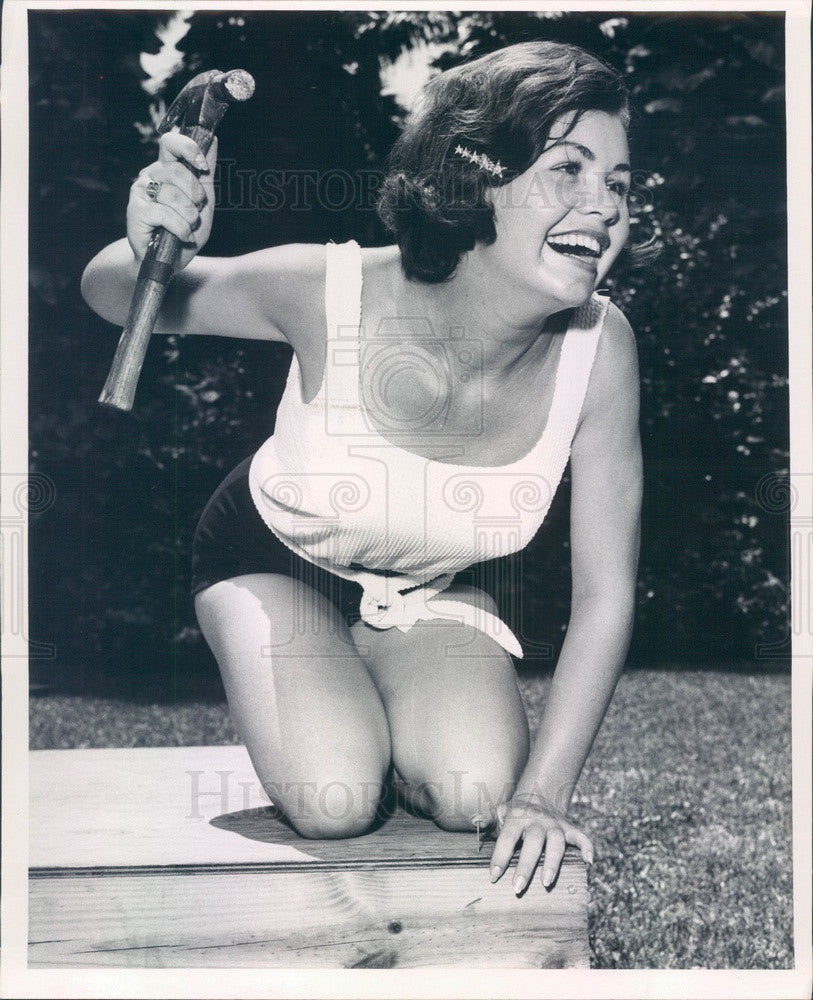 1964 Miss St Petersburg, Florida Contestant Brenda Haley Press Photo - Historic Images