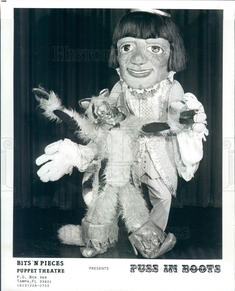 1984 Tampa, Florida Bits 'N Pieces Puppet Theater, Puss In Boots Press Photo - Historic Images
