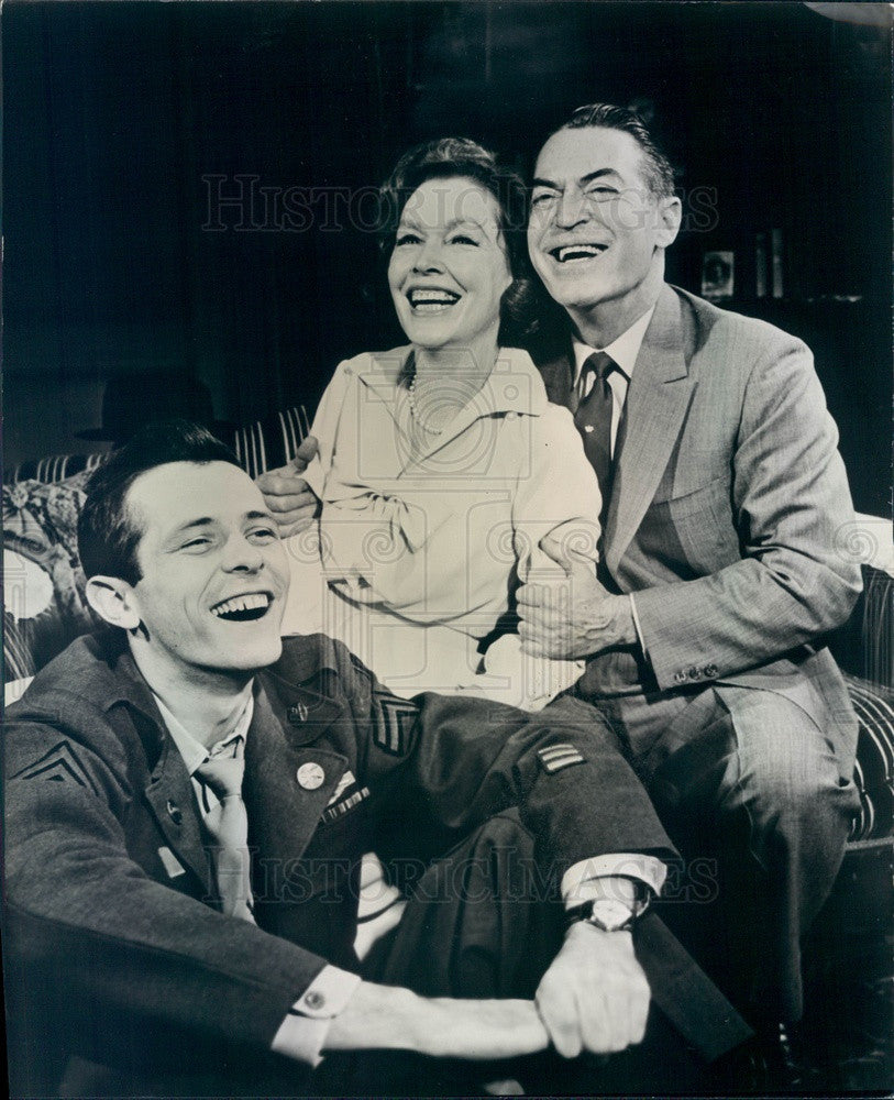 1965 Actors Maureen O'Sullivan, Walter McGinn, Chester Morris Press Photo - Historic Images