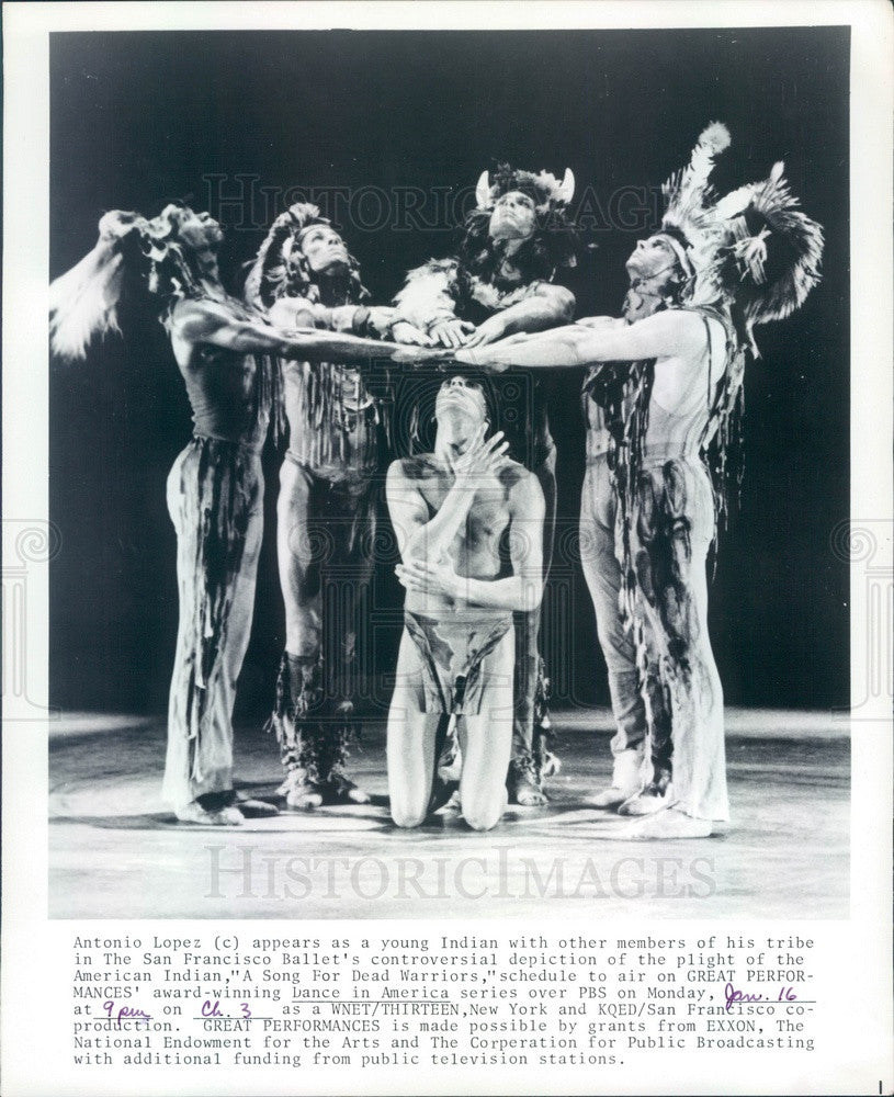 Undated San Francisco Ballet Dancer Antonio Lopez & Cast Press Photo - Historic Images