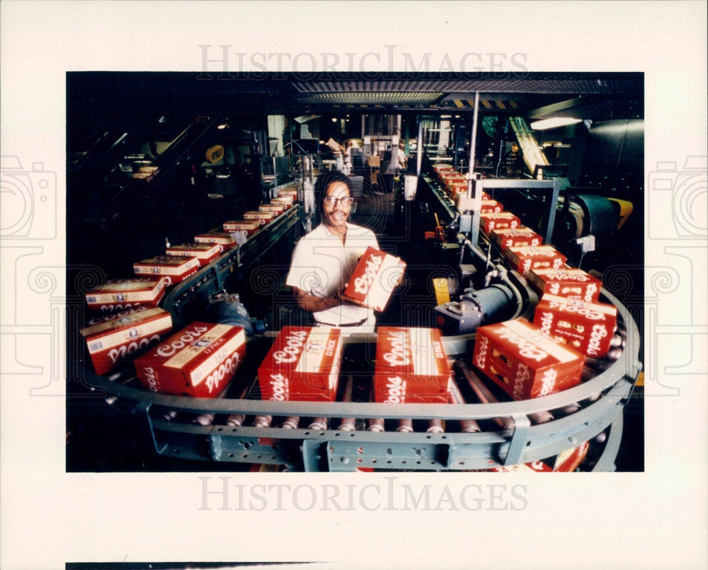 1986 Golden, Colorado Coors Brewery Press Photo - Historic Images