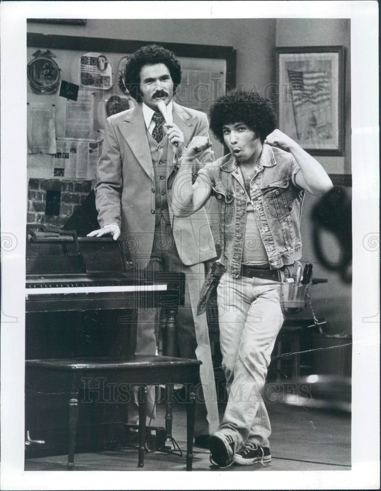 1976 Actors Gabriel Kaplan & Robert Hegyes on Welcome Back, Kotter Press Photo - Historic Images