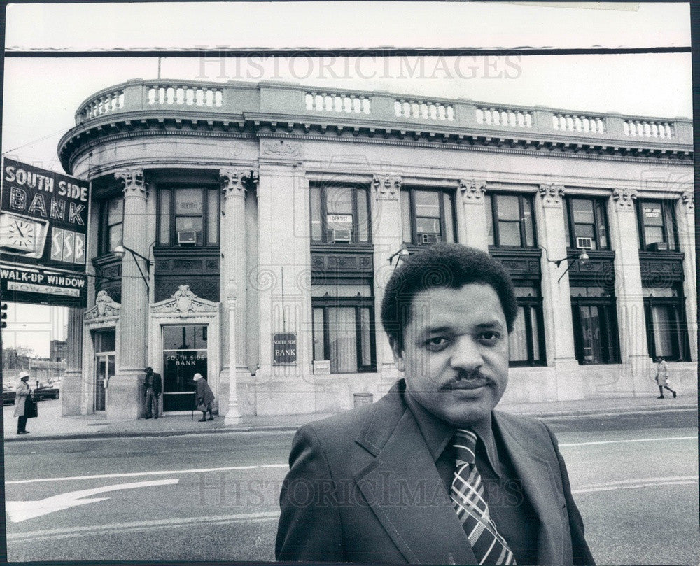 1975 Chicago, Illinois South Side Bank President Thomas Lewis Press Photo - Historic Images