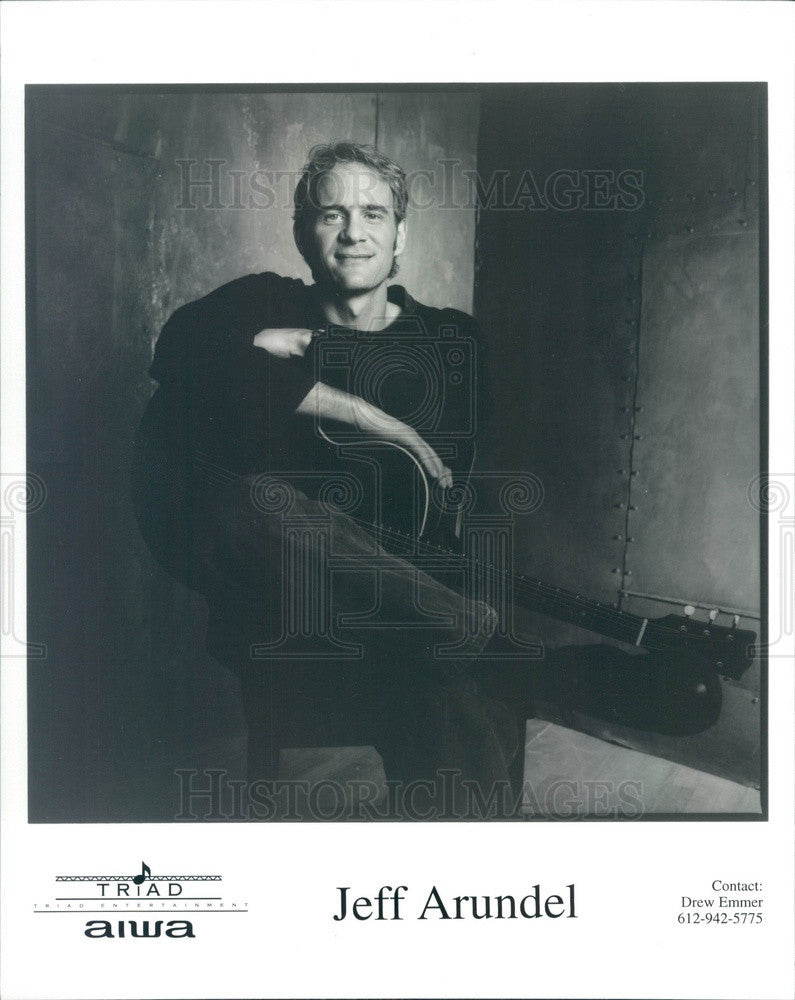 1996 Musician Jeff Arundel Press Photo - Historic Images
