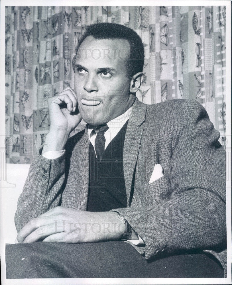1960 American Singer/Actor Harry Belafonte Press Photo - Historic Images