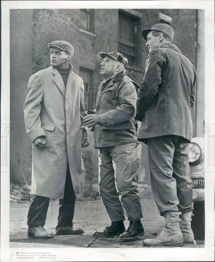 1959 Hollywood Actors Harry Belafonte/Robert Ryan/Ed Begley Press Photo - Historic Images