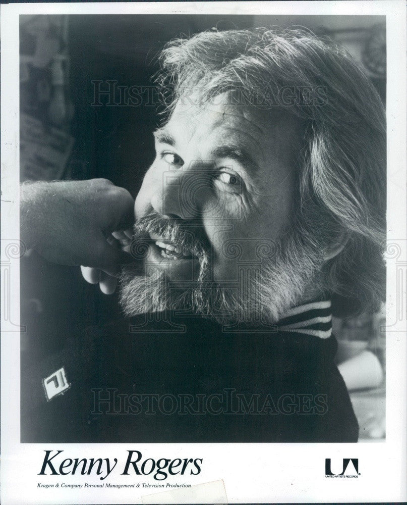 1980 Singer/Actor Kenny Rogers Press Photo - Historic Images