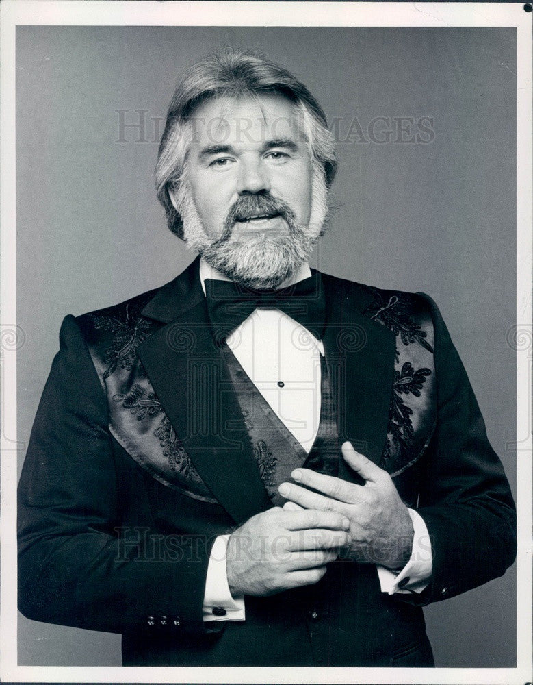 1981 Singer/Actor Kenny Rogers Press Photo - Historic Images
