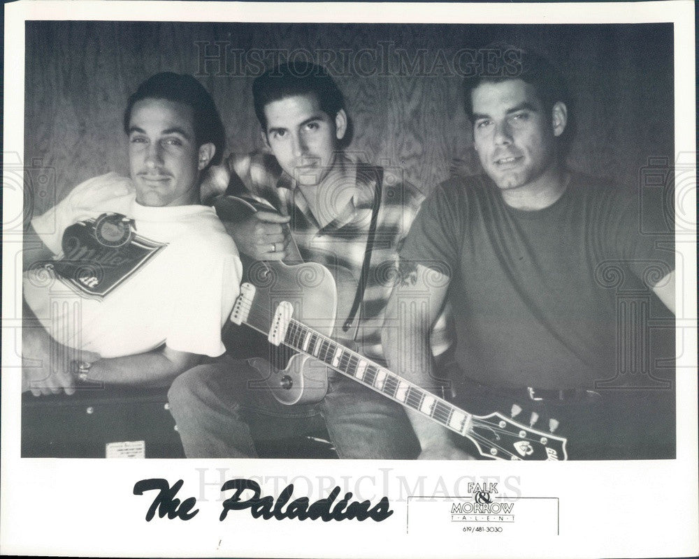 1988 American Rock/Rockability Band The Paladins Press Photo - Historic Images
