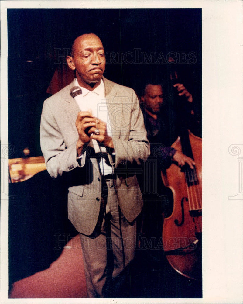 1992 Detroit, Michigan Jazz Singer Harvey Thompson Press Photo - Historic Images