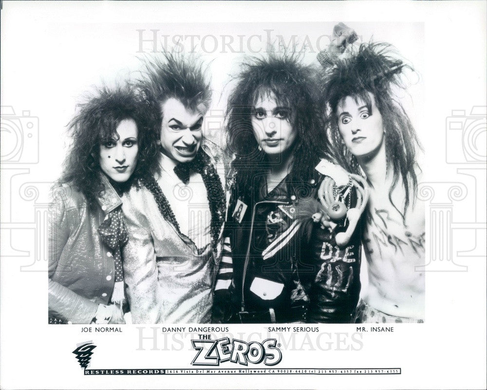 1993 Musicians The Zeros Press Photo - Historic Images