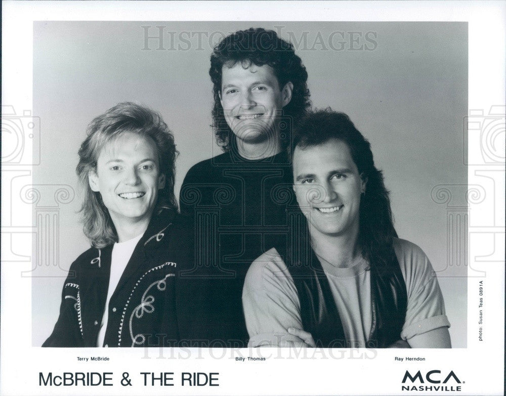 1992 Country Musicians McBride & The Ride Press Photo - Historic Images