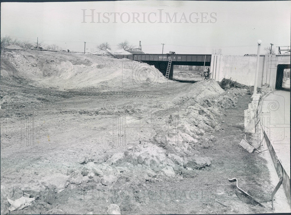 1955 Chicago, Illinois Lake Shore Dr Overpass Construction at 31st Press Photo - Historic Images