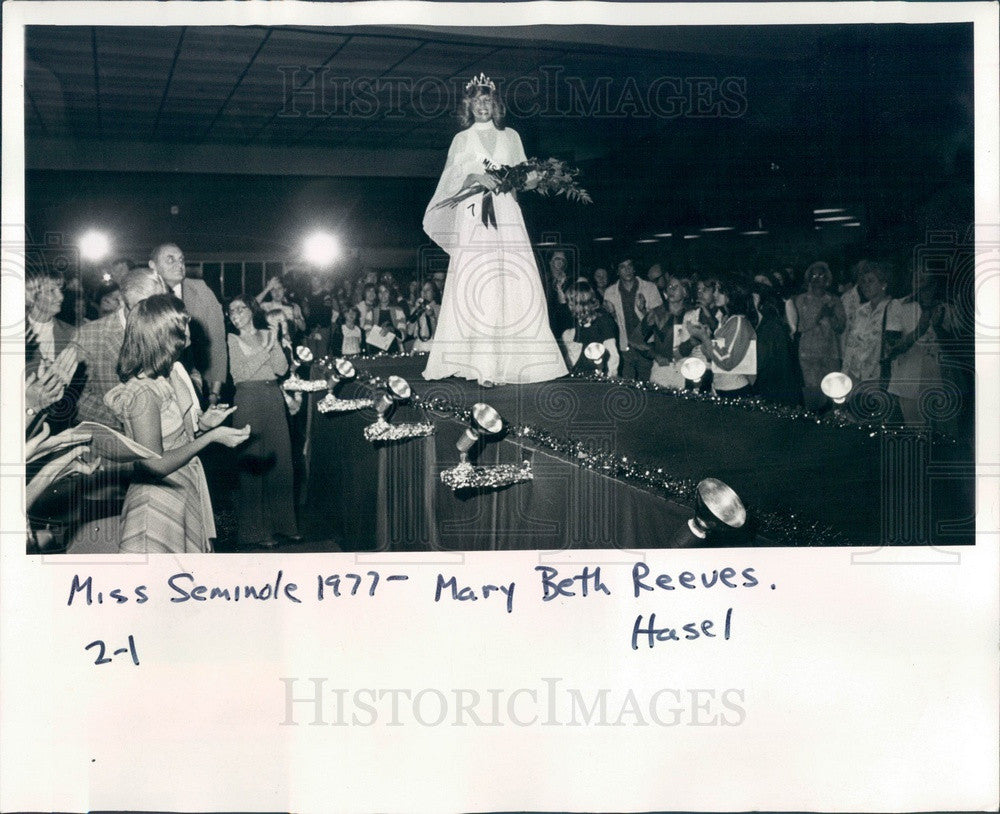 1977 Miss Seminole, Florida 1977 Mary Beth Reeves Press Photo - Historic Images