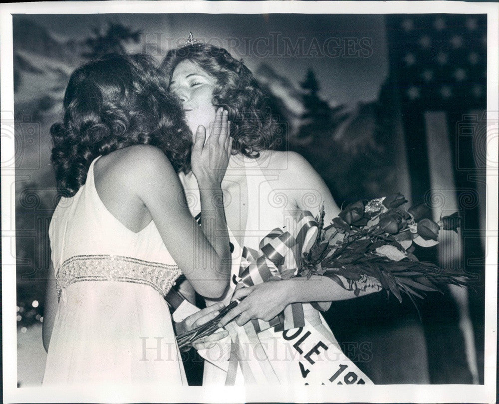 1976 Miss Seminole, Florida 1976 Alida Hauser & 1975 Janet Darr Press Photo - Historic Images