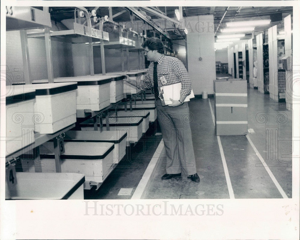 1985 Chicago, Illinois Spiegel Computerized Warehouse, Steve Hoffman Press Photo - Historic Images