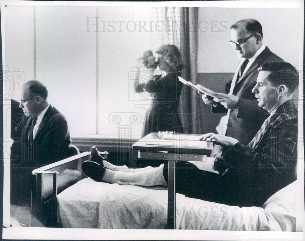 1962 New Hampshire Governor Wesley Powell & Aide Robert Rhodes Press Photo - Historic Images