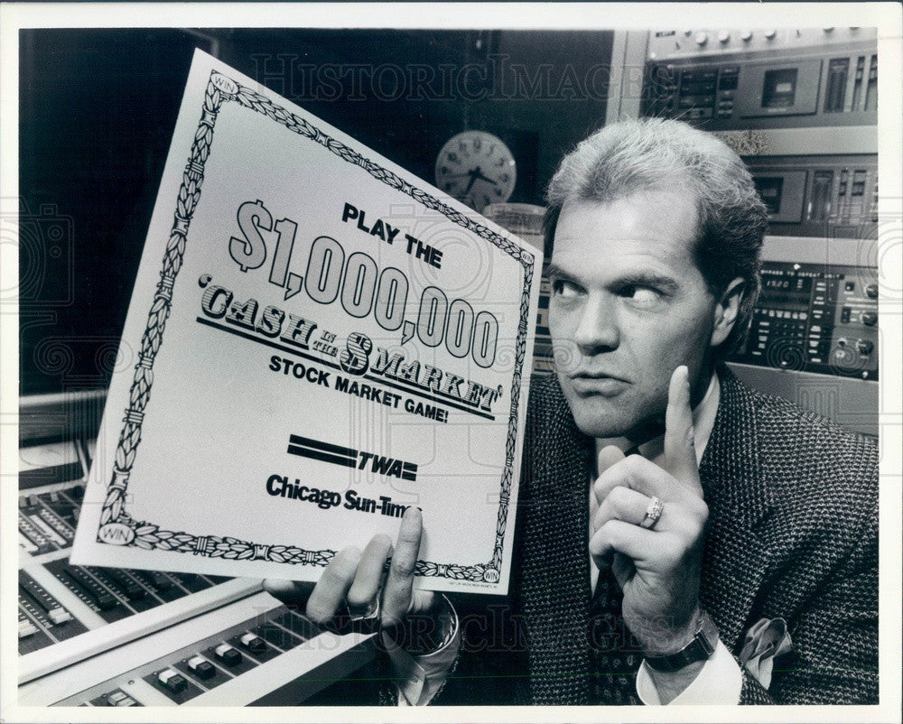 1987 Chicago, Illinois Sportscaster Chet Coppock Press Photo - Historic Images