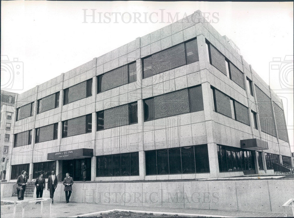1974 Chicago, Illinois Joseph Gill Field House Park District Bldg Press Photo - Historic Images