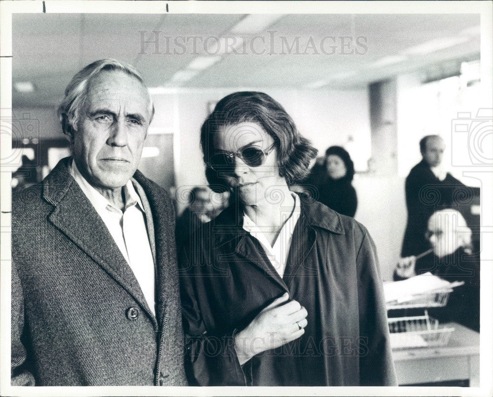1988 Hollywood Actor Jason Robards Press Photo - Historic Images