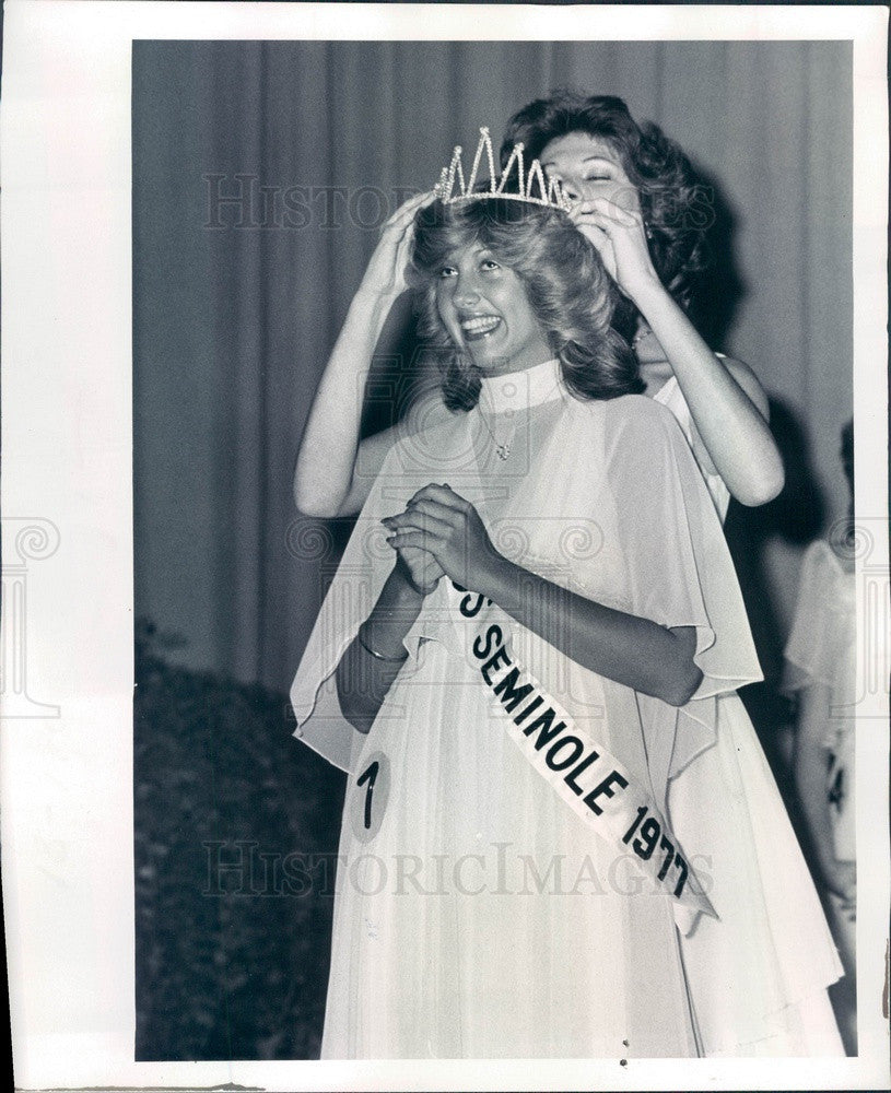 1977 Miss Seminole, FL 1977 Mary Beth Reeves & 1976 Alida Hauser Press Photo - Historic Images