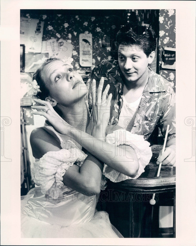 1985 Actors Amy Morton & Jeff Perry in You Can't Take It With You Press Photo - Historic Images