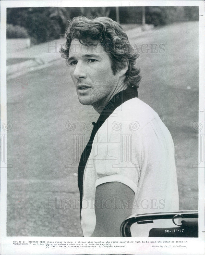 1984 American Hollywood Actor Richard Gere in Breathless Press Photo - Historic Images