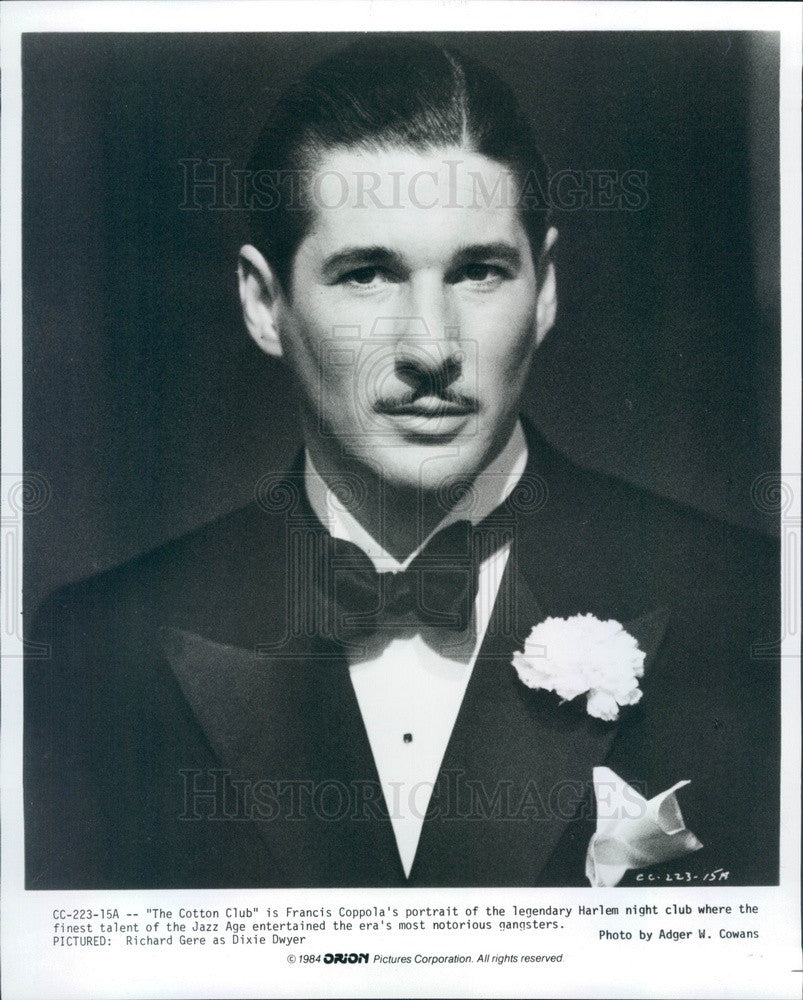 1984 American Hollywood Actor Richard Gere in The Cotton Club Press Photo - Historic Images