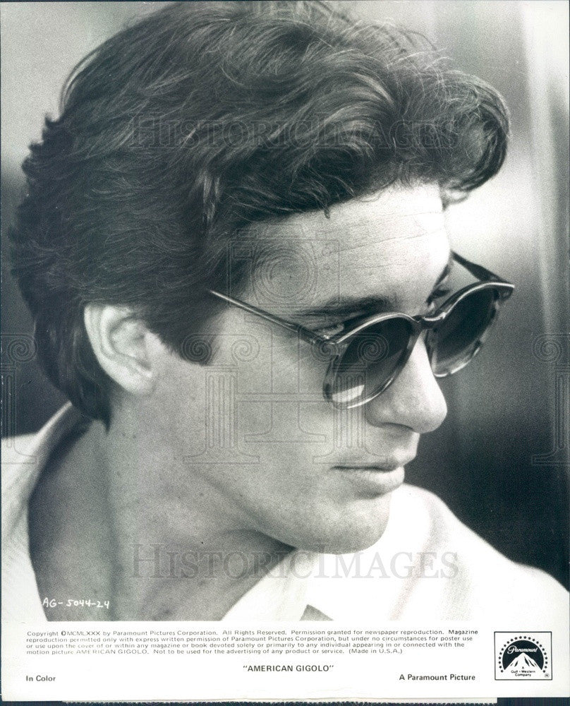 1980 American Hollywood Actor Richard Gere in American Gigolo Press Photo - Historic Images