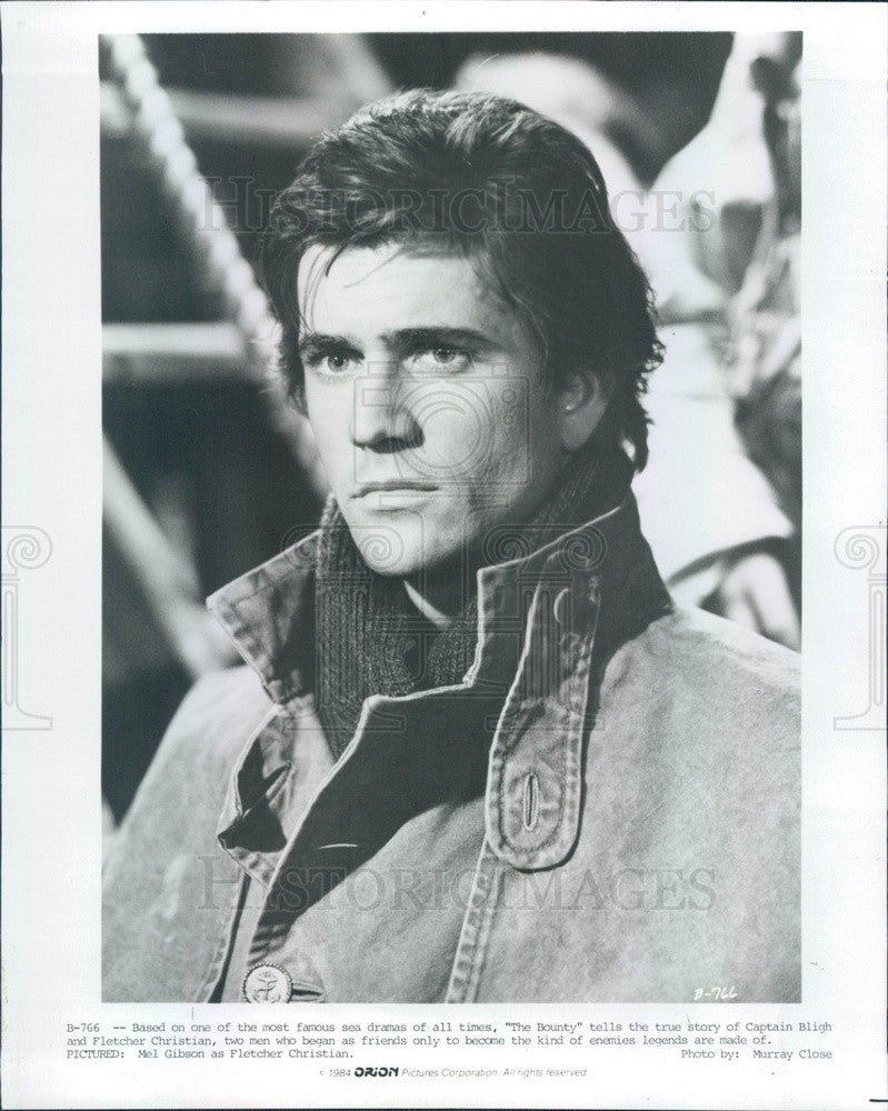1984 American Hollywood Actor Mel Gibson in The Bounty Press Photo - Historic Images