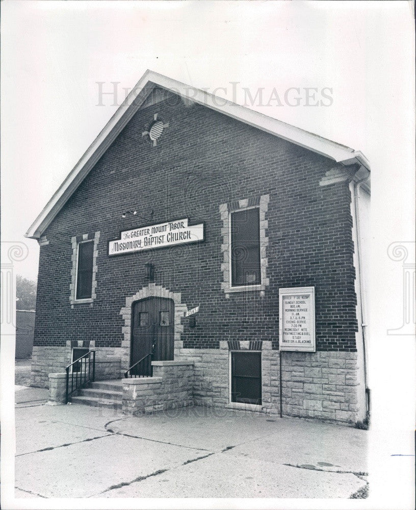 1971 Detroit, Michigan Mount Tabor Missionary Baptist Church Press Photo - Historic Images
