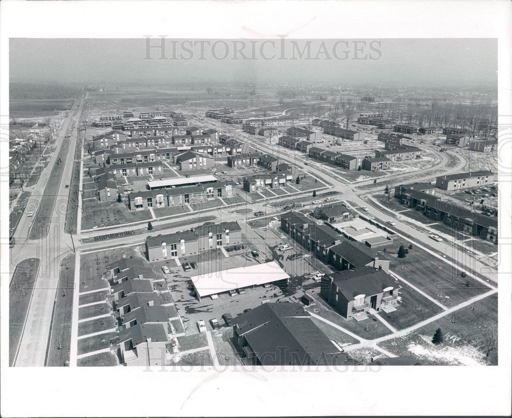 1966 Troy, Michigan Somerset Park Complex Aerial View Press Photo - Historic Images