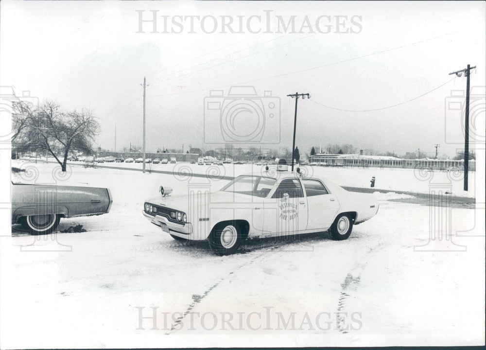 1972 Roseville, Michigan Police Headquarters & Howard Park Press Photo - Historic Images