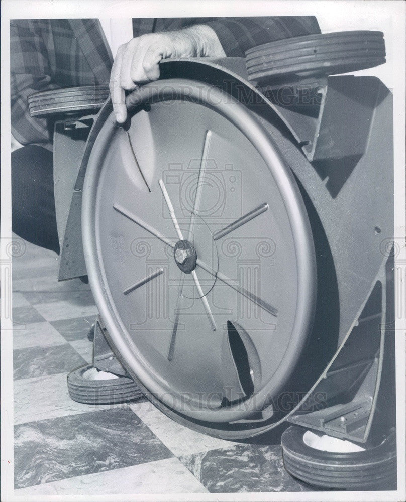 1965 Saf-T-Disk for Lawnmowers Press Photo - Historic Images
