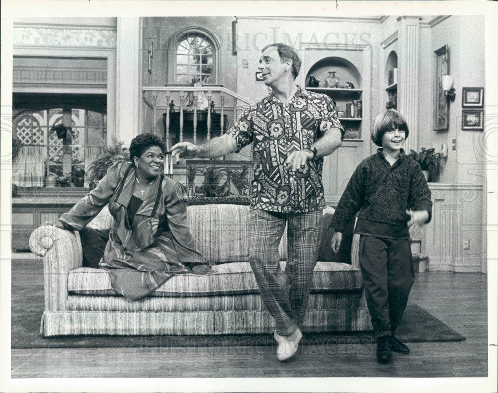 1986 Actors Ken Berry, Joey Lawrence, Nell Carter Press Photo - Historic Images