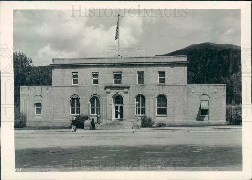 1930 Glenwood Springs, Colorado Federal Building Press Photo - Historic Images