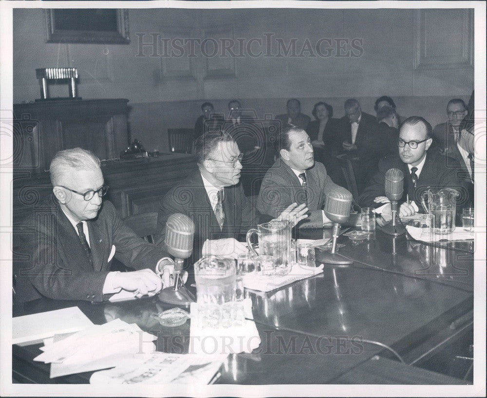 1952 Detroit, Michigan Communist Inquiry Press Photo - Historic Images