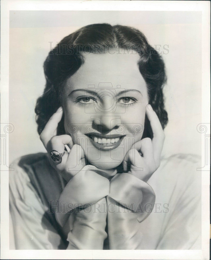 1937 Radio Actress & Singer Irene Beasley Press Photo - Historic Images