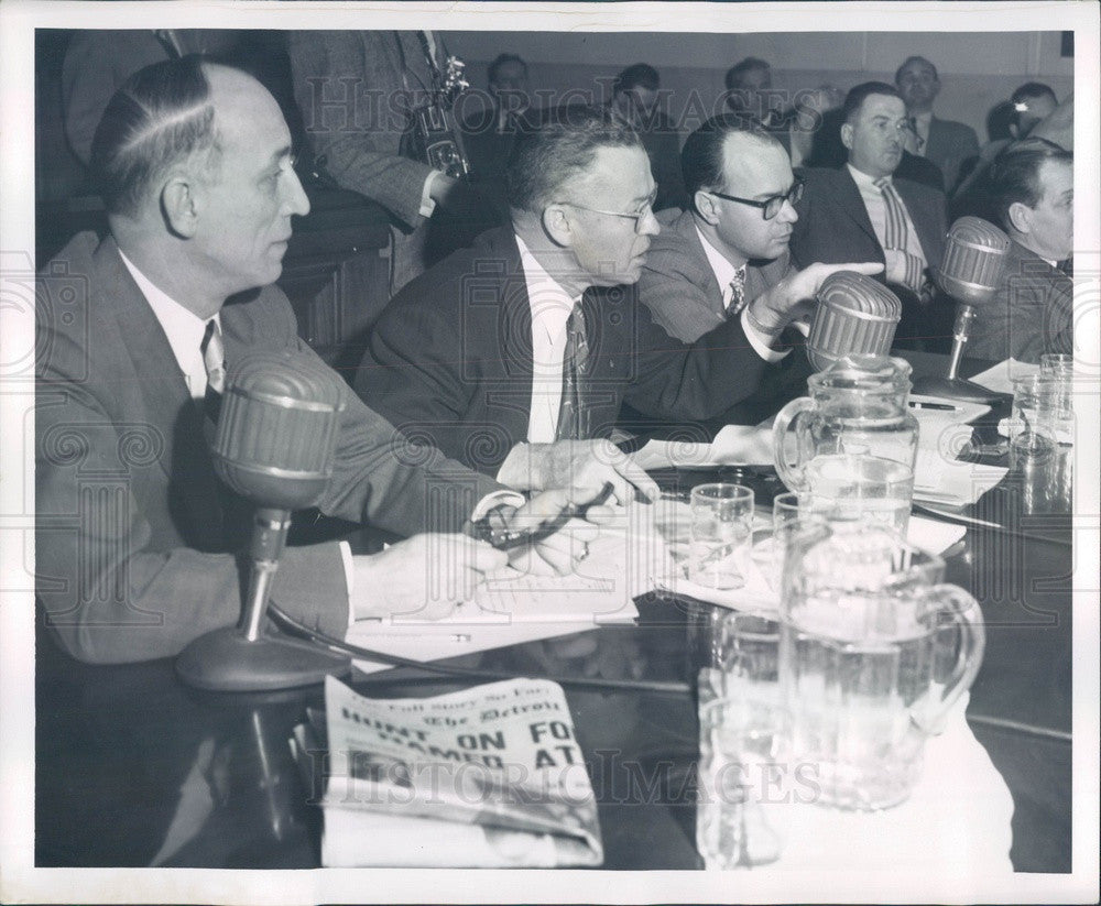 1954 Detroit, Michigan Communist Inquiry Press Photo - Historic Images