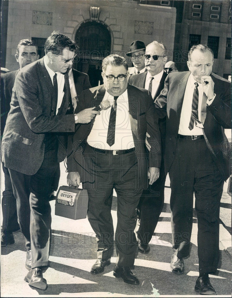 1966 Chicago, Illinois Frank Porcaro, Witness To Gangster Payoffs Press Photo - Historic Images